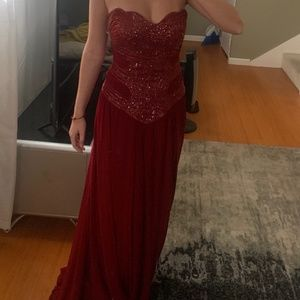 Mandalay Red Gown